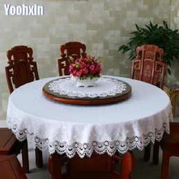 shop round lace tablecloths uk round lace tablecloths free rh uk dhgate com