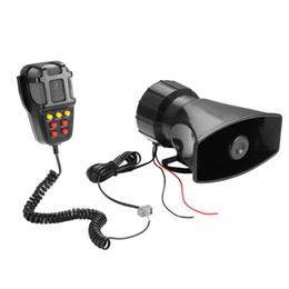 Discount 12v car siren horn - Car Alarm Speaker Holder Tone Sound Car Recording Emergency 7 siren sounds Horn Mic PA Speaker System Hooter