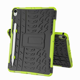 Discount ipad rugged - FOR IPAD PRO 11 2018 11 INCH Hybrid KickStand Impact Rugged Heavy Duty TPU+PC Cover Case 100PC LOT