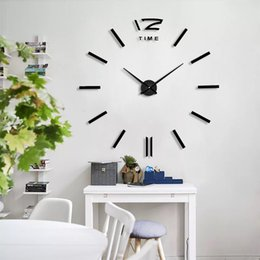 unique analog watches Australia - Best selling Home Decoration Big Mirror Wall Clock Modern Design 3D DIY Large Decorative Wall Clocks Watch Wall Unique Gift