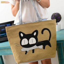canvas print prices Canada - Bolso New Trend Cute Durable Canvas Shoulder Cat Bag Hot Sale Woman Messenger Handbag Big Shopping Bag Lowest Price