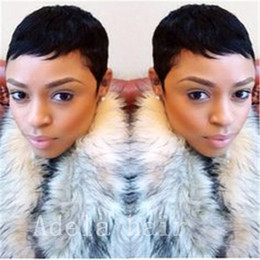 Peruvian Human Hair For Sale Australia - Cheap Human Hair Very Short Wigs for Black Women 100% Human Hair Wigs Remy Hair Brazilian Peruvian Malaysian Indian Hot Sales New Fashion