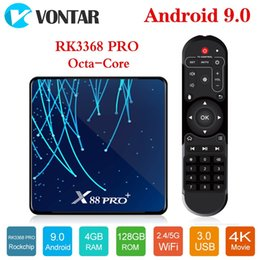 octa core rockchip NZ - X88 PRO Plus Octa Core Android 9.0 TV Box 4GB 32G 64G 128GB Rockchip RK3368 Netflix Smart TV Box