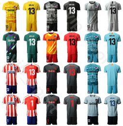Soccer goalie jerSey online shopping - 2020 Goalie Atletico Soccer Madrid Jan Oblak Jersey Set Men Goalkeeper GK Antonio Adan Miguel Angel Moya Football Shirt Kits
