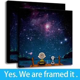 $enCountryForm.capitalKeyWord NZ - Kids Room Decor Art Animation HD Print on Canvas Peanuts Stars Framed Art - Ready To Hang - Support Customization