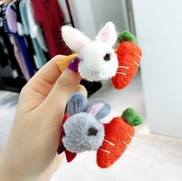 Wholesale New Japanese and Korean cute headdress handmade wool felt hair rope thick color rubber band rabbit does not hurt hair ball head rope hair ac