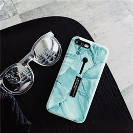 mobile clips 2019 - New Multifunctional Marble iPhone Xs Max Mobile Shell iPhone 8 plus Invisible Ring Bracket 6s Emerald Green X cheap mobi