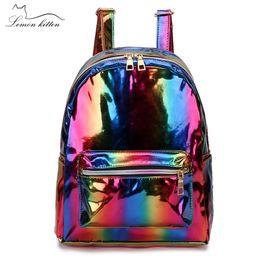$enCountryForm.capitalKeyWord Australia - 2019 Color Laser School Backpack For Girl Cool Design Mini Small Women Backpack Shoulder Bag Female Rucksack Bagpack Mochila J190706