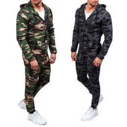 cross print cardigan UK - men's sports suit Mens white designer hoodie sweatshirt sweat Cross-border foreign trade new slim hooded sweater suit Fashion camouflage