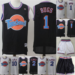 ecc6d5270 Mens Tune Squad Space Jam Movie Jersey 1 Bugs Bunny 2 Daffy Duck 1 3 Tweety  Bird 10 Lola Bunny 100% Stitched Basketball Jerseys