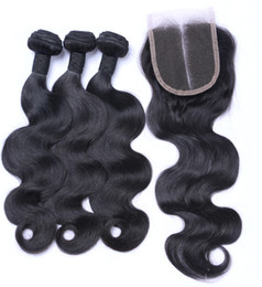 $enCountryForm.capitalKeyWord Canada - Wholesale 10A Indian Straight Body Deep Loose Wave Buy 3 Bundles Get 1 Free Closure Unprocessed Virgin Jerry Curly Brazilian Hair Wefts