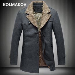 mens jacket 7xl 2019 - New Mens autumn winter thicken Woolen coats wool Jackets fashion men coat 2018 men's trench coat slim large Size 4X