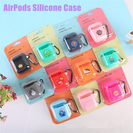 Wholesale For Airpods Silicone Case Shockproof Multiple Choice Cartoon Animal Soft Case Earphone Protective Cover For Apple AirPods With Buckle