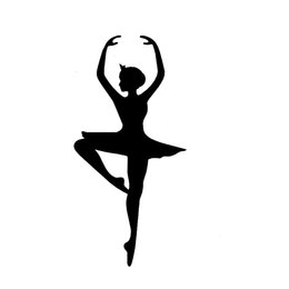 $enCountryForm.capitalKeyWord NZ - Ballerina Ballet Car Truck Window Decal Sticker Accessories Motorcycle Helmet Car Styling Car Sticker