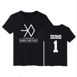 Exo T Shirts Australia - 2019 new Exo Short Sleeve T-shirt Men women Fashion Hip Hop Summer Cool Cotton Men's T-shirt Exo Casual Top Clothes