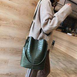 $enCountryForm.capitalKeyWord NZ - Casual Y Alligator Bucket Bags Crocodile Women Handbag Wide Shoulder Strap Shoulder Messenger Bag Ladies Hand Bag Bolso Femenino