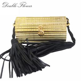 $enCountryForm.capitalKeyWord Australia - Black Tassel Dollar Hasp Hard Case Mini Women Gold Acrylic Evening Clutch Bag Party Prom Handbag Purse Crossbody Messenger Bag Y19062105