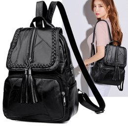 $enCountryForm.capitalKeyWord Australia - 1high Quality Women Backpack Designer Solid Leather Shoulder Bag Fashion Black School Bags Large Capacity Backpacks Travel Bags