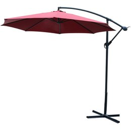 market umbrellas NZ - 10FT Outdoor open air Market Beach Sunshade umbrella Beige