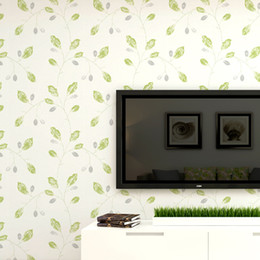 diy waterproof housing Australia - Modern popular leaf warm color non-woven wallpaper DIY solid and with leaves version for living room bedroom furniture TV background