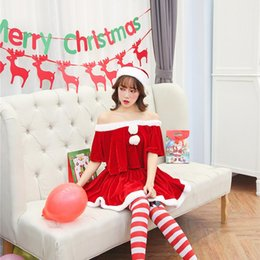 Sexy princeSS clothing online shopping - Christmas Women Clothing Bowknot Dress Elegant Party Princess Cute Xmas Red Dress Sexy Strapless Cosplay