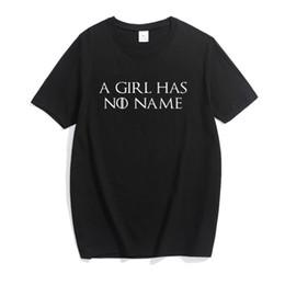 62b5fc9f05 Nueva camiseta de las mujeres Juego de Tronos Camisa Arya Stark una niña no  tiene nombre divertido camiseta casual para mujer camiseta de verano ropa  de ...