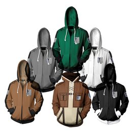 titan coating NZ - Anime Attack On Titan hoodie Jacket Shingeki no Kyojin Legion Eren Cosplay Costume Sweatshirts Men Casual Coat