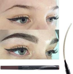 $enCountryForm.capitalKeyWord NZ - Brand New Eyebrow Pencil Waterproof Fork Tip Eyebrow Tattoo Pen 4 Head Fine Sketch Liquid Eyebrow Enhancer Dye Tint Pen