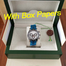 Original autOmatic watch papers online shopping - 4 colors luxury watch mm LN Day tona Automatic watch Original box papers Ceramic bezel Asia movement mens watches watch watches