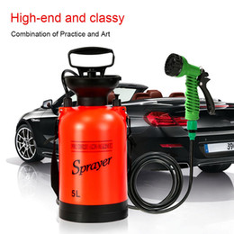 Shower waSh online shopping - Portable Outdoor Camping Shower Multi Function Bath Sprayer Watering Flowers Car Washing Small Sprayer For Travel