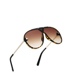Oval Frame Large UK - Top Men's Siamese Large Metal Frame Sunglasses Women's Classic Frame One-piece Sunglasses Europe and America Classic Men's Sunglasses
