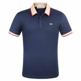 Wholesale clothes eu for sale – custom Little Bee designer polo shirts new brand fashion luxury designer oversized t shirt EU size Printing Clothing Mens Brand Polo Shirt