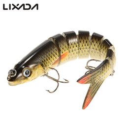 Discount trout jigs - rout swimbaits Lixada 13.5cm 20g Lifelike 8 Jointed Sections Fishing Lure Trout Swimbait Hard Bait Wobbler Fish Hook for