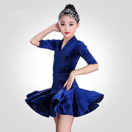 bf2493ebed04b Girl short Sleeves Standard Latin Dance Dress Children Ballroom Dance  Dresses Kids Salsa Rumba Cha Cha Samba Tango Dress