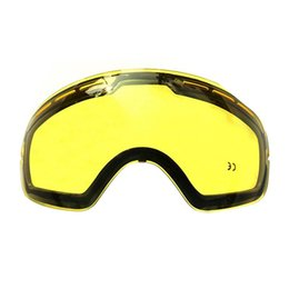 bb06f59c927 Double Brightening Ski Lens For Ski Goggles Night For Weak Light Tint  Weather Cloudy Mask Replacement Lens