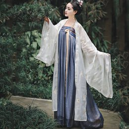 Wholesale woman fairy costume for sale - Group buy Hanfu Women Fairy Dress Suit White Coat Traditional Ancient Chinese Costume Women Adult Folk Festival Outfit Hanfu BL1973