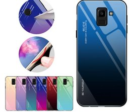 Discount hard case samsung a7 - Real Tempered Glass Hard Case For Galaxy Note 9 8 S9 S8(J4 J6 Plus A7 A8 A9 A6)2018 Soft TPU Side Gradient Dual Hybrid B