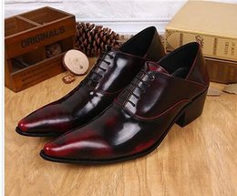 leather lace free shipping Australia - Free Ship! Wine Red man dress shoes Classic Formal man office shoes Cool Lace-up Man Leather Shoes Oxford,EU37-46!