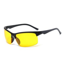 sunglasses night lenses 2019 - HD Night Vision Driving Sunglasses HD Sunglasses Night Vision Glasses Driving Yellow Lens Classic Anti-Glare Glass High