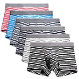 $enCountryForm.capitalKeyWord UK - 2019 boxer mens underwear men cotton underpants Stretch cotton modal mid-waist large size U convex design striped boxer