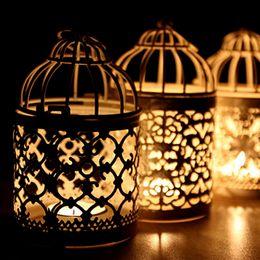 $enCountryForm.capitalKeyWord Australia - Plating Candlestick Gold Color Bird Cage Shape Candle Holders Home Furnishing Wedding Prop Decoration Candlesticks Creative 11 8dh L1