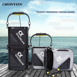 $enCountryForm.capitalKeyWord Australia - Outdoor Sports Foldable Fishing Bucket EVA Folding Thicken Bucket Leakproof With Handle Rope Fishing Accessories Hiking Camping