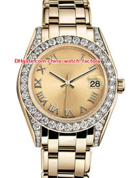 DiamonD gem stone online shopping - 12 Style Topselling High Quality mm mm Pearlmaster Datejust Diamond Bezel k Yellow Gold Automatic Ladies Watch Women s Watches