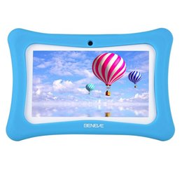 Kids 7inch Children Tablet PC 1G+8GB A7 Quad Core Android 7.1 Dual Camera Language Training Computer Gift Toy from case built touch screen protector suppliers