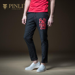 Discount decorated pencils - 2018 Zipper Fly Slim Designer Clothes Jeans Men Pinli Summer Hot New Men's Decorated Body Printed Small Foot Leisur