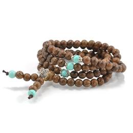 China 108*6MM Sandalwood Buddhist Meditation Prayer Bead Mala Necklace Pulseras Bracelet Jewelry For Women Men Jewelry suppliers