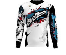 Discount team sky pink jersey - SPTGRVO LairschDan New Team Bike Motocross Jersey Cycling off road Motorcycle Downhill Fast Dry mx Mtb shirt man Bicycle