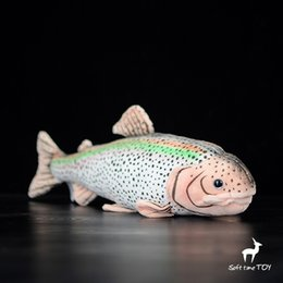 Chinese  Stuffed Toy Marine Animal Dolls Real Life Plush Rainbow Trout Doll Toys Puzzle Gifts Rare Good Quality manufacturers