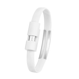 Micro usb cable coil online shopping - White Wristband Micro Sync For Android Cell Phone Data Usb Charger Charging Cable Y10