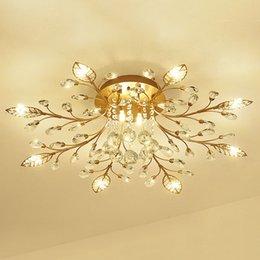 Yeni öğe fantezi tavan ışık LED Kristal tavan lambası modern oturma odası ışıkları için lambalar, AC110-240V DIY Kristal aydınlatma